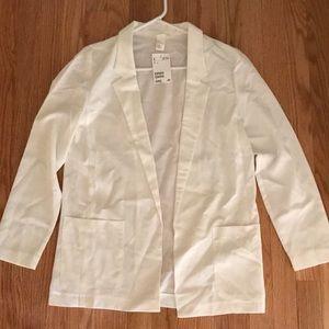 H&M new white blazer with pockets